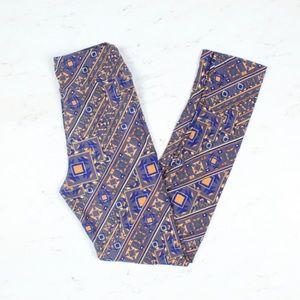 Other - LulaRoe Tween size blue orange pattern legging